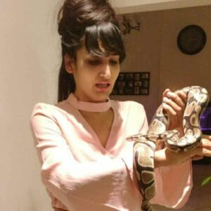 Dimpal Bhal playing with snake