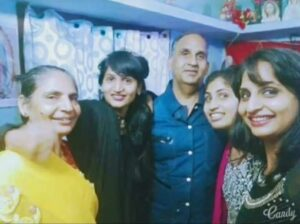 Dimpal Bhal with her family