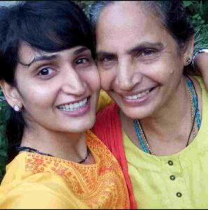 Dimpal Bhal with her mother Mini Bhal