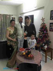 Kevin Almasifar with his family