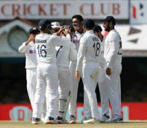 Mayank Agarwal in indian team test jersy