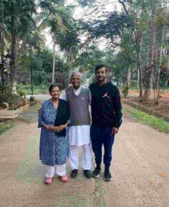 Mayank Agarwal with grandparents