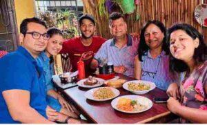 Mayank Agarwal with his family