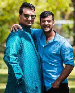 Mayank Agarwal with his father anurag agarwal