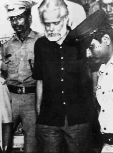 Nambi Narayanan during arrest