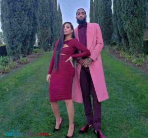 Nipsey Hussle with her wife