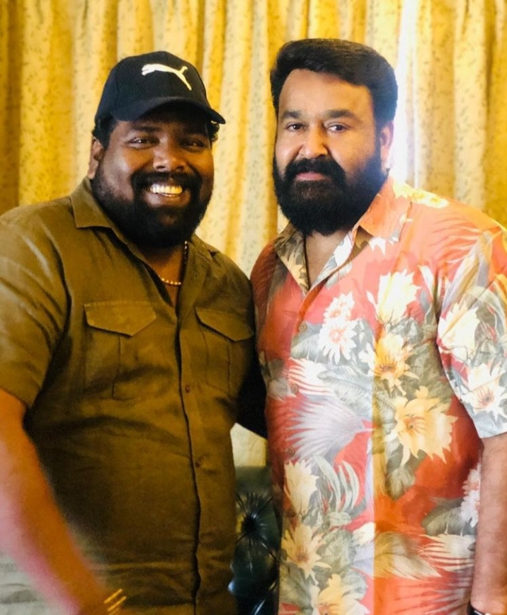 Noby Marcose with mohanlal