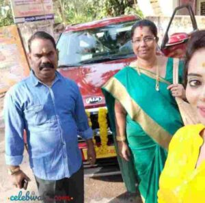 Remya Panicker with her parents