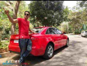 prashanth sambargi with his car audi