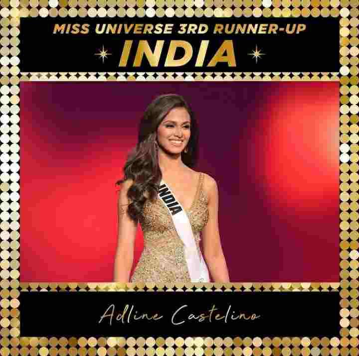 Adline Castelino Miss Universe Third runner Up