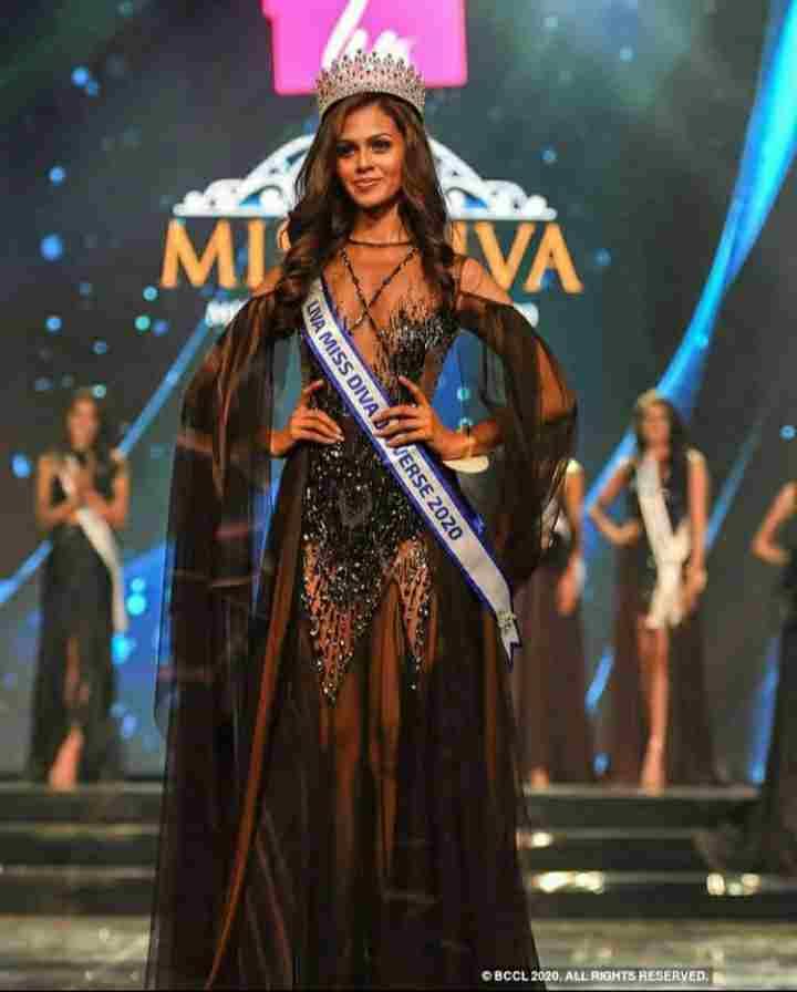 Adline Castelino in Miss Diva Universe 2020