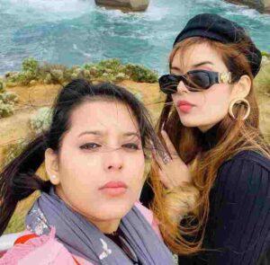 Isha Negi with her cousin sister Ina negi