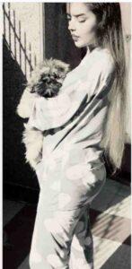 Isha Negi with her pet dog