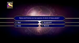 KBC 13 registration Third question with the answer on 12 May