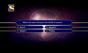 KBC 13 registration second question with the answer on 11 May