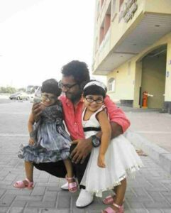 Kidilam Firoz with his daughter