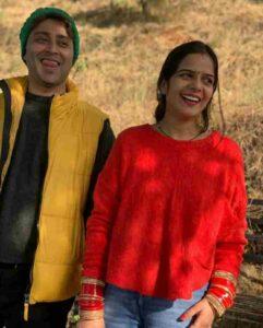 Rahul Vohra with his wife Jyoti Tiwari pic