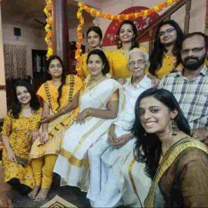 Soorya J Menon family