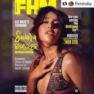Swara Bhaskar got cover photo in magazine