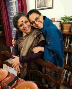 Swara Bhaskar with her mother ira bhaskar