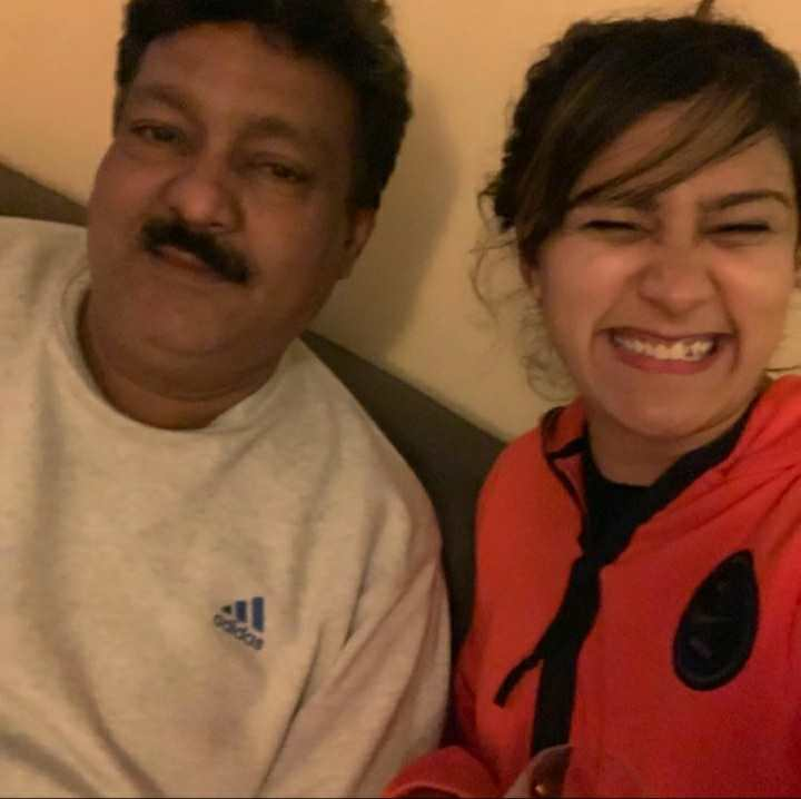 Aastha Gill with her father Jaspal Moni Gill
