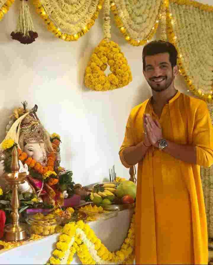 Arjun Bijlani devottee of lord ganesa