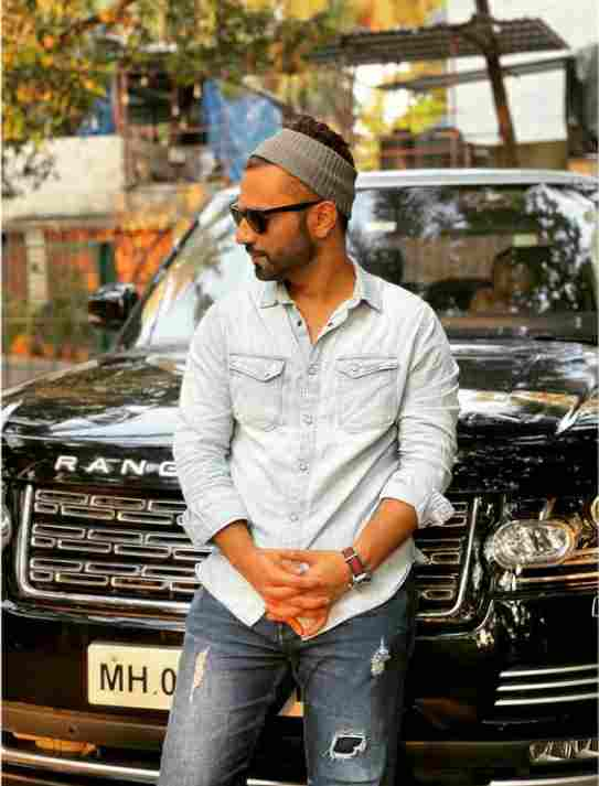 Rahul Vaidya with Range Rover