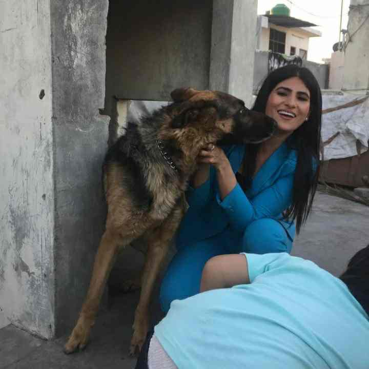 Rubika Liyaquat pet dog Romeo