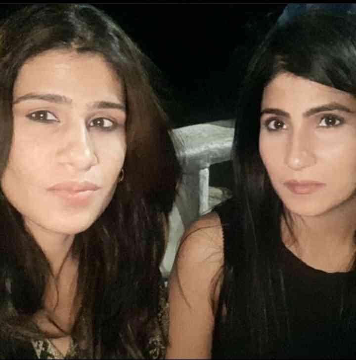 Rubika Liyaquat with her sister Anjum Liyaquat