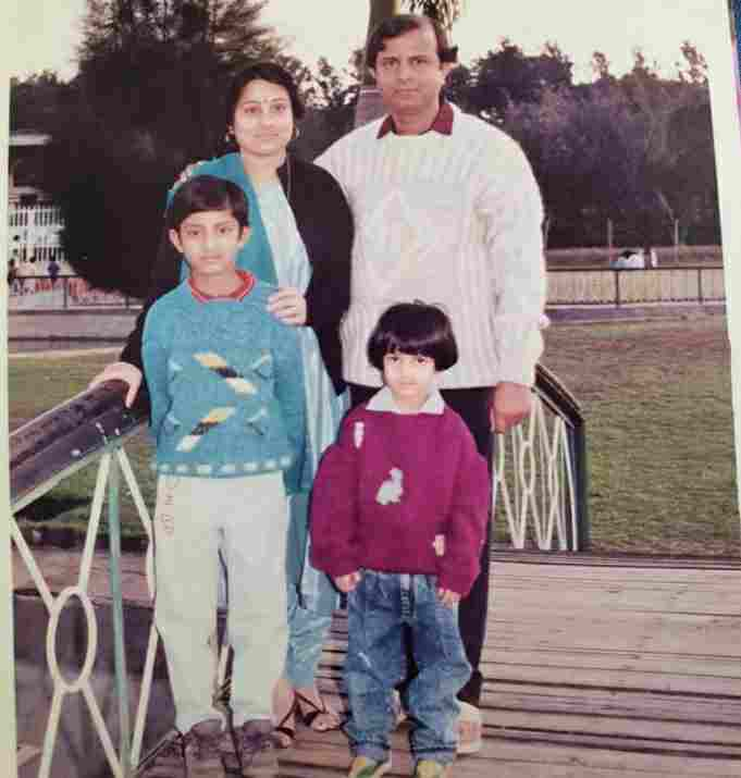 Shiny Doshi with her family