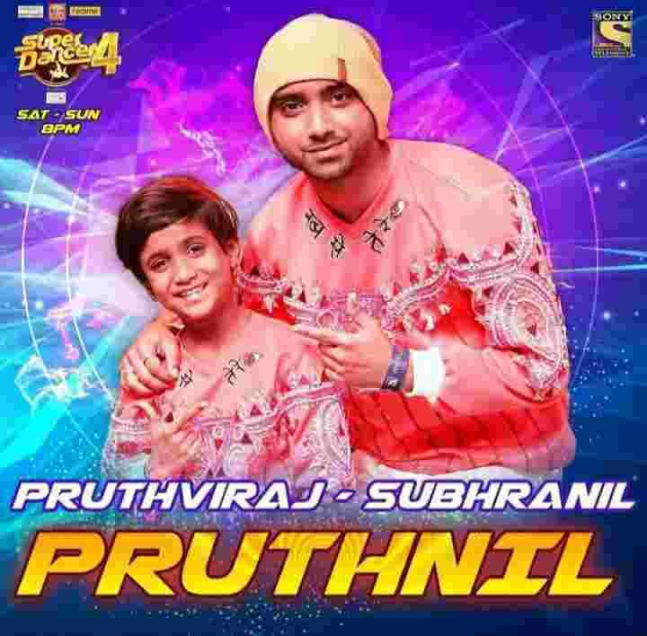Subhranil Paul with Super dancer contestant Pruthviraj