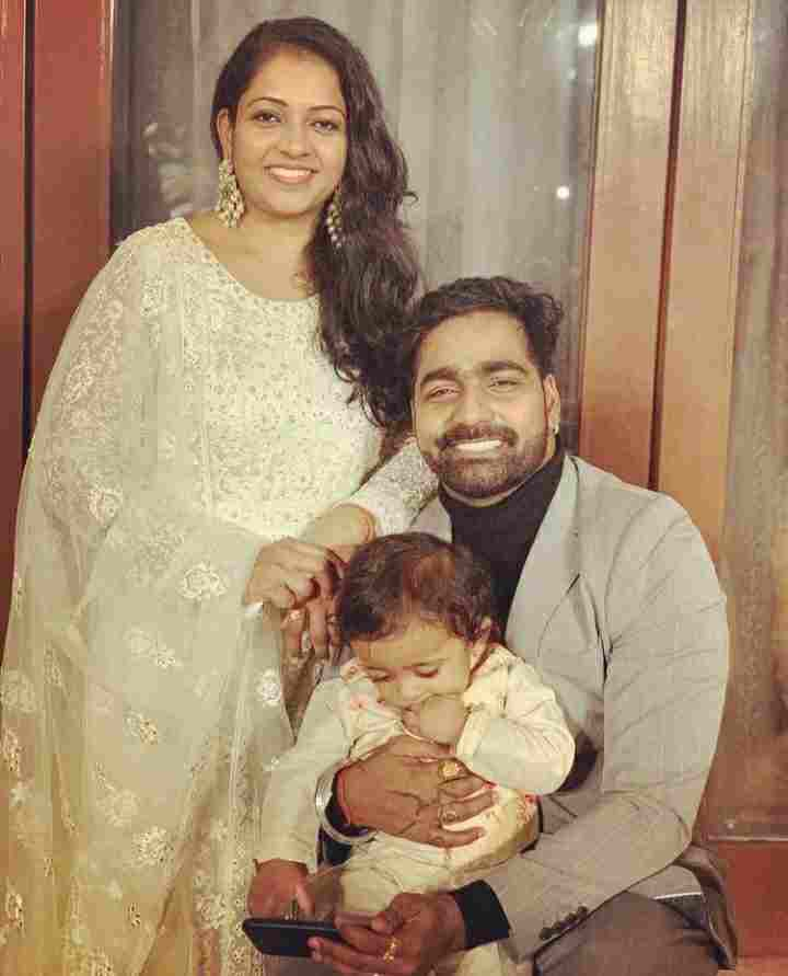 Vaibhav Ghuge family with wife