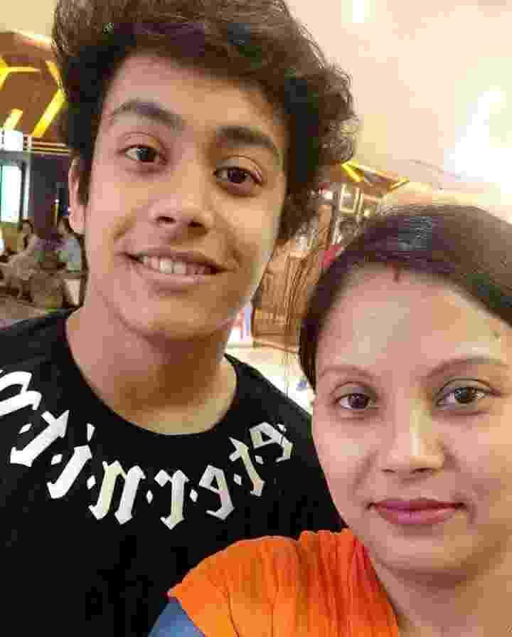 Aryan Patra with her mother Laxmi Patra