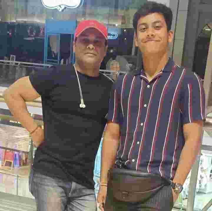 Aryan Patra with his father Vinod Patra