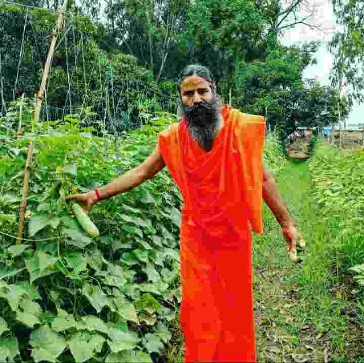 Baba Ramdev farming