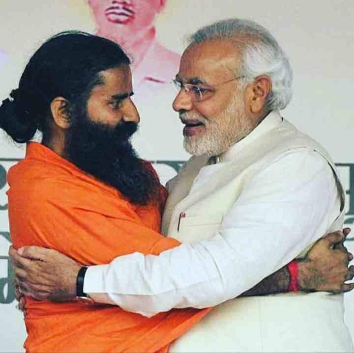 Baba Ramdev with the PM Narendra Modi Ji