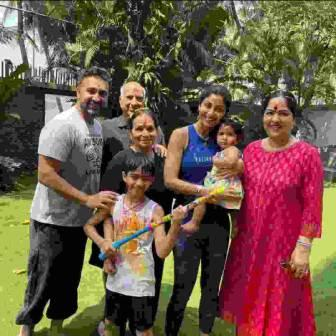 Raj Kundra with his family