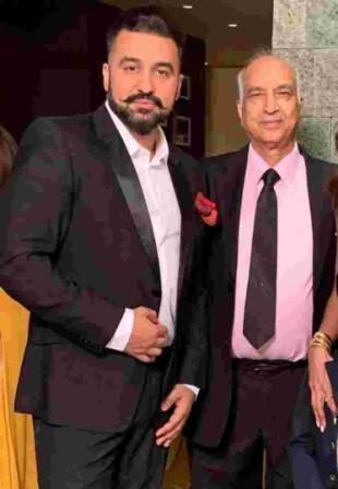 Raj Kundra with his father Balkrishna Kundra