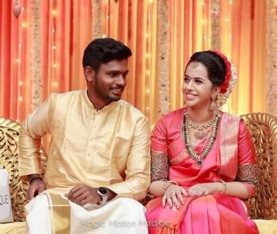 Sanju Samson wife Charulatha Samson