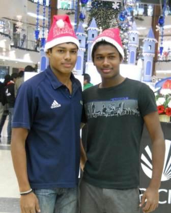 Sanju Samson with his elder brother Saly Samson