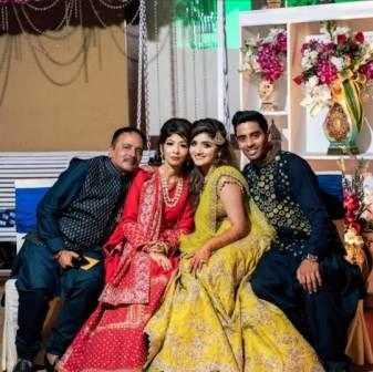 Abhimanyu Easwaran family
