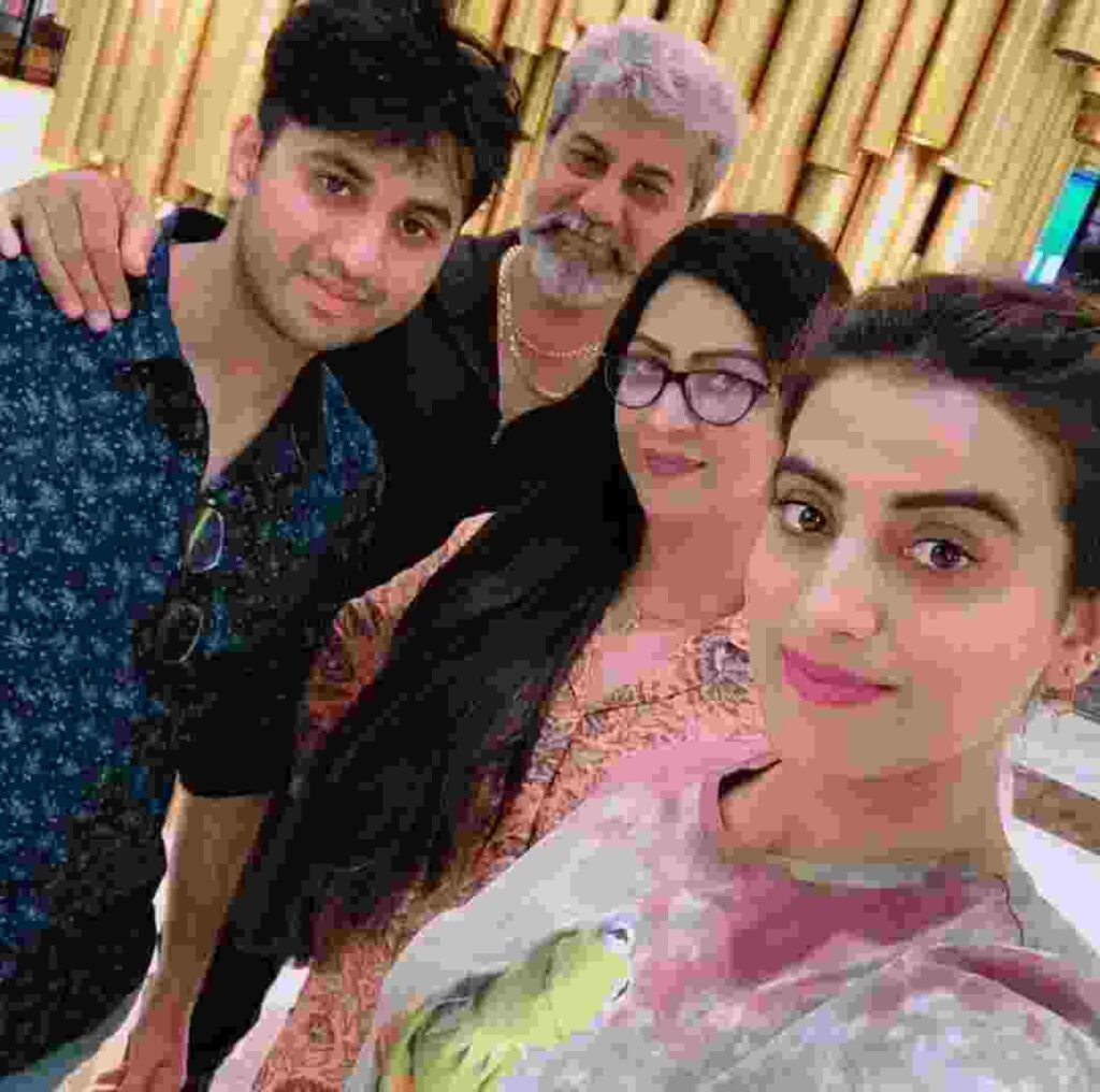 Akshara Singh with her family