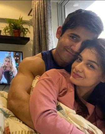 Divya Agarwal with his boyfriend Varun Sood