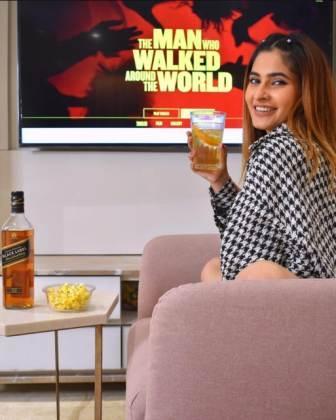 Karishma Sharma drinking alcohol