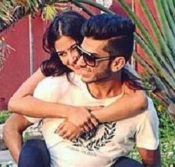 Karishma Sharma with his ex boyfriend Omar Nensey