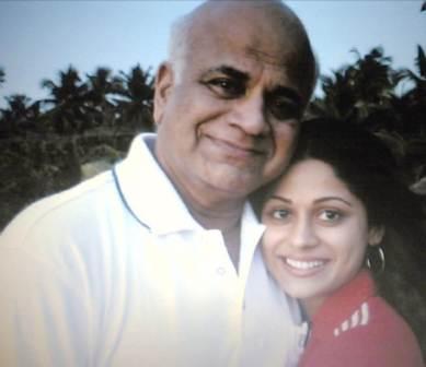 Shamita Shetty with her Father Late Surendra Shetty