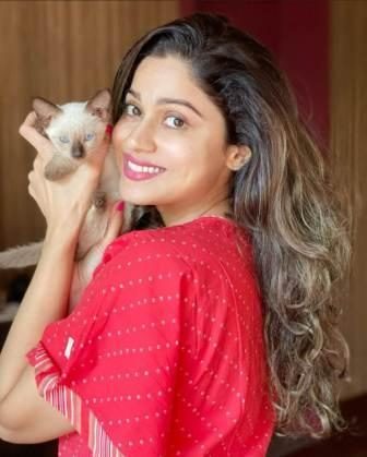 Shamita Shetty with her pet dog Phoebee