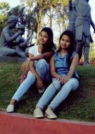 Surabhi Das with her sister Pompi Das