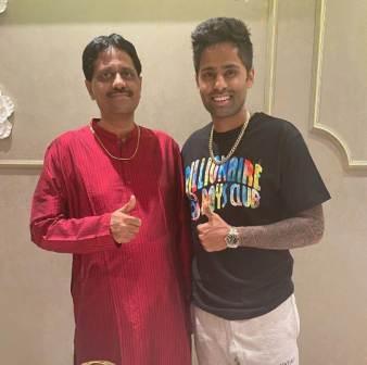 Suryakumar Yadav with his father Ashok Kumar Yadav