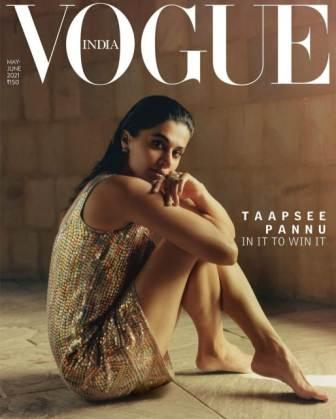 Taapsee Pannu feature on Vogue India cover page